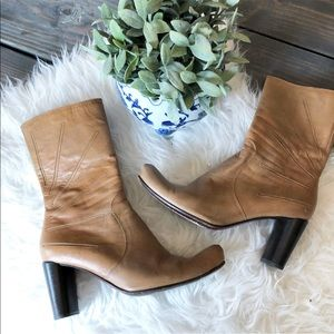 Costume National Western Mid Calf Ankle Boots